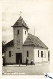 Husův sbor Čsl. církve, který byl postaven 7 let po odchodu pana Kučery z Peruce.